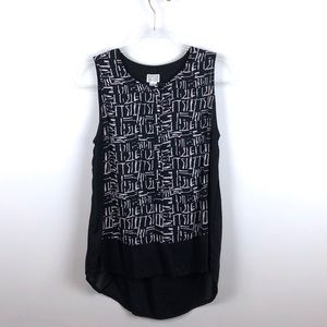 Converse One Star Black & White Sleeveless Blouse